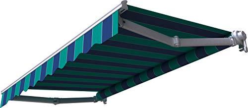 Broxsun Gelenkarmmarkise Mauritius, 1,9 bis 5m breit, 120 Stoffe Farben, Auslage bis 3,1m, Markise, Breite von 190 bis 230cm, Länge 160cm, Kurbelantrieb manuell