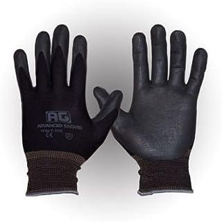 AG NITEX P-200, Nitrile Foam Coated work Gloves,12 Pairs, Breath-ability, Touchscreen Technology (BK-L)