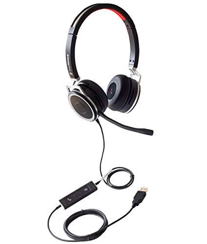 freeVoice Space Corded Stereo NC (USB), Profi Headset, drahtgebunden für Laptops, fürs Büro, Office/Call Center