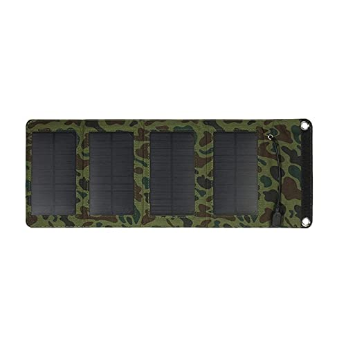 WanuigH Cargador Solar 7W 5V Cargador De Panel Solar De Silicio Monocristalino Plegable Al Aire Libre Portátil USB Cargador Plegable y Portátil (Color : Camouflage, Size : One Size)