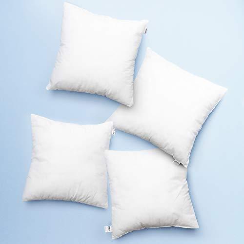 Nestl Bedding Large Euro Pillow Insert - Big Throw Pillows for Couch - Form Sham Stuffer, Premium White Throw Pillow Insert Hypoallergenic - 24x24 Pillow Inserts Set of 4