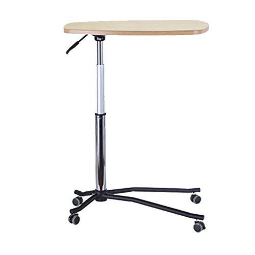 AI LI WEI Levendige kantoor/eenvoudige opbergtafel, laptopstandaard voor bureau, sofa, bijzettafel, educatief bureau, mobiele bureau, in hoogte verstelbaar, materialen op houtbasis, 2 kleuren (kleur: houtkleur)