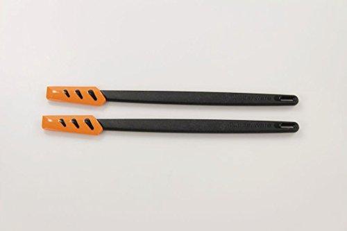 TUPPERWARE Griffbereit Kleiner Top-Schaber schwarz-orange Teigspachtel (2) 26854