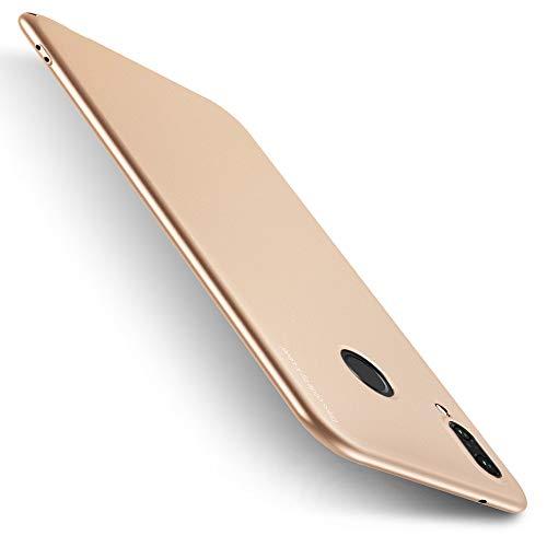 X-level für Huawei P20 Lite Hülle, [Knight Serie] Hardcase Hart Handlich Premium PC Material Handyhülle Gutes Gefühl Schutzhülle Kompatibel mit Huawei P20 Lite Case Cover - Gold