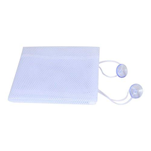 Toyvian 35x45 cm multifunktions Premium badewanne Spielzeug Organizer badespielzeug aufbewahrungsbeutel Bad Produkt lagerung mit Haken (weiß)