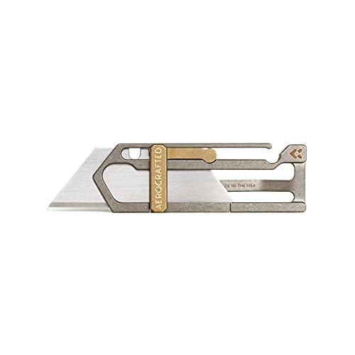 Aerocrafted Sideslip Titanium Utility Knife, EDC...