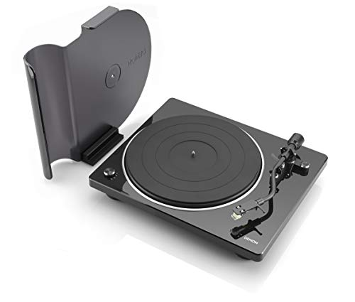 Denon DP-400 Semi-Automatic Analog Turntable with Speed Auto Sensor | Specially Designed Curved Tonearm