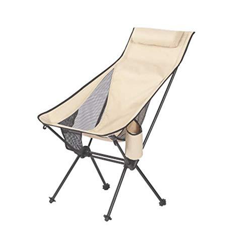 Silla de Camping QWEA Silla de Campamento Plegable con Respaldo Alto para Pesca, mochilero de jardín Silla de Campamento al Aire Libre para Viaje en la Playa reclinable (Color: B)