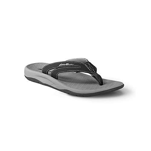 Eddie Bauer Women's Break Point Flip Flop, Black Regular 9M