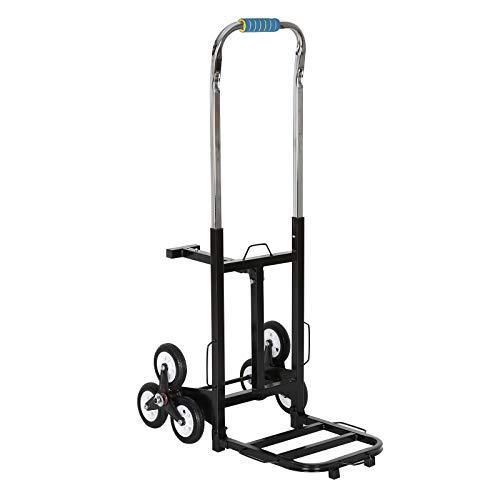 BALLSHOP Sackkarre Treppensteiger Treppensackkarre Transportkarre Treppenkarre 200 kg Faltbar 3-Rad-Mechanismus für Einfaches Klettern
