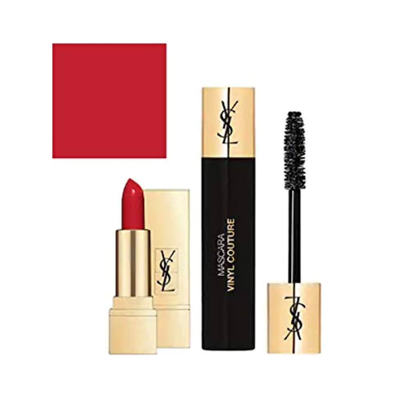 トラフィック手を差し伸べる連合Yves Saint Laurent(イヴサンローラン), Mini 2/ set - 1x Lipstick(1.6 g) & 1x Mascara(2ml) [海外直送品] [並行輸入品]