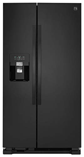 Kenmore 51339 24.5 cu. ft. Side Refrigerator with SpaceSaver Ice System, Black