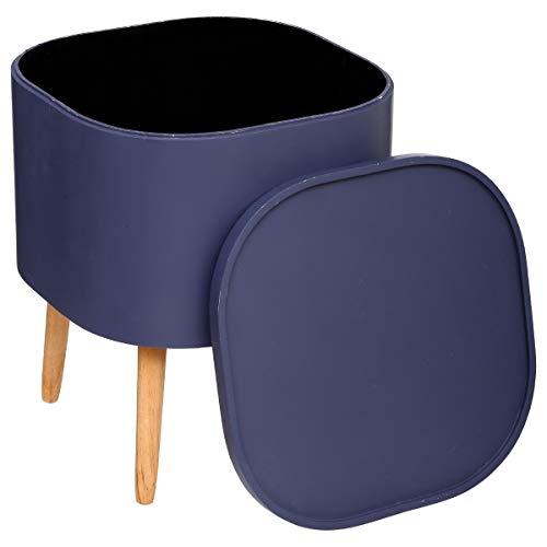 Atmosphera 2 en 1 Table Basse + Coffre de Rangement - Style Nordique - Coloris Violet