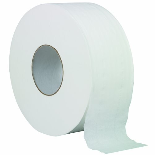 "Solaris Paper 23501 Livi VPG Plain Jumbo Bath Tissue, 2 Ply, 3.3"" X 1000', 1000 feet, White (Pack of 12)"