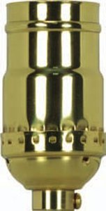 Satco 3 Piece Stamped Solid Brass 3 Way (2 Circuit) - 801176
