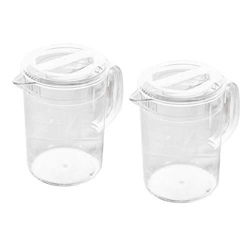 yotijar Pack de 2 Jarras Acrílicas con Tapa para Agua, Té, Limonada,