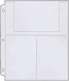 PhotoSMART Photo/Postcard Page for 3-Ring Binders - Archival-Safe Plastic - Three 4
