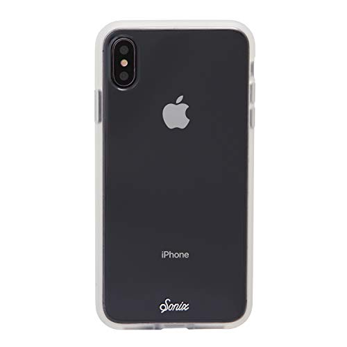 Sonix Clear Case for iPhone Xs Max and Tempered Glass Screen Protector [Military Drop Test Certified] Clear Case and Screen Protector Bundle Pack for Apple iPhone Xs Max