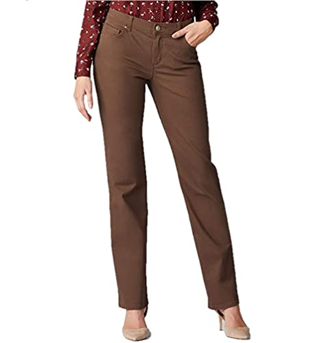 Lee Women's Relaxed Fit Straight Leg Jean, Rouge, 10
