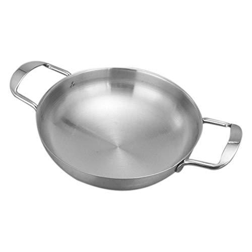Lopbinte Utensilios de Cocina CláSicos de Acero Inoxidable para Uso Diario de Chef - DiáMetro Interior 18 Cm Accesorios de Cocina para Ollas Calientes