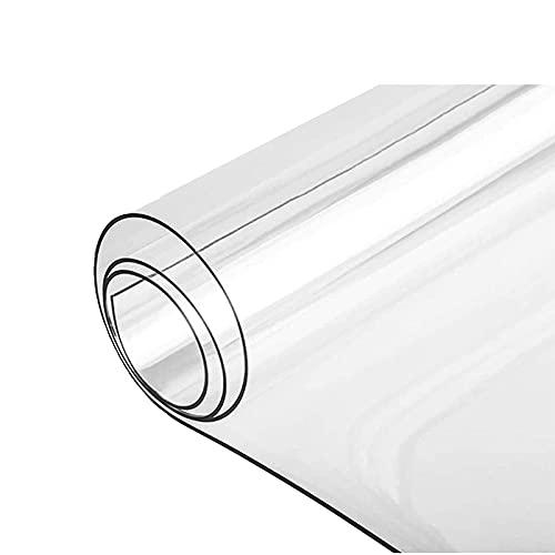 LASHI 2 mm Plástico Transparente PVC Vinilo Manteles Impermeable Mesa Tela Cubrir Protector, 20 tamaños Disponible (Color : 2mm, Tamaño : 70x70cm/27.5x27.5in)