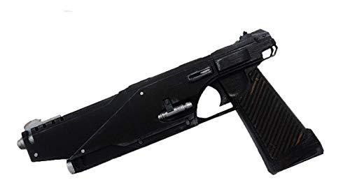 Entworfen von Westar-35 Mandalorian Blaster Pistole aus Star Wars Vollmaßstab, Gratis Star Wars Banner, Plastik, leicht und langlebig, sicher, schießt nicht