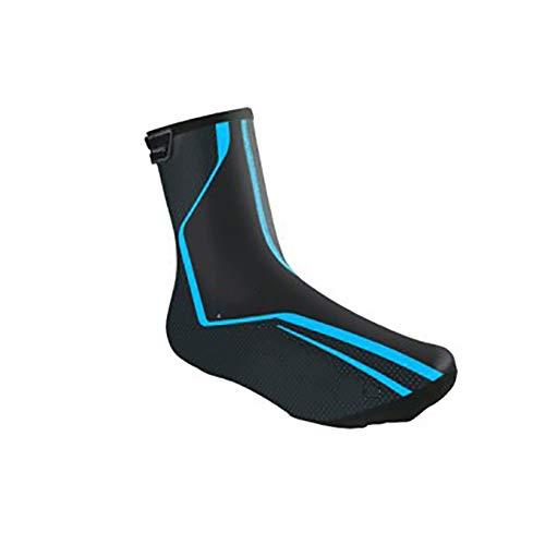 CHANGAN Cycling Shoe Covers Neoprene Waterproof,Winter Thermal Warm Full Bicycle Overshoes for Men Women,Road Mountain Bike Booties Blue-XL