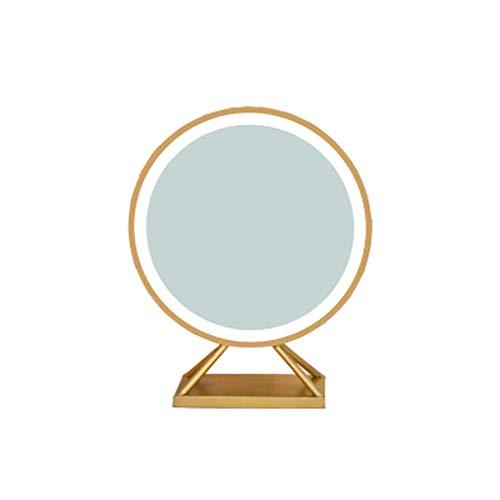 Miroir JT de Maquillage LED de Maquillage HD lumière du Jour de Maquillage de Bureau de Maquillage avec lumière Petit et Pratique (Color : Diameter45 CM)
