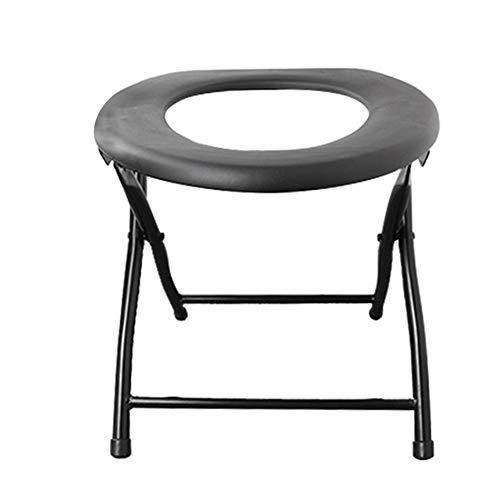RongWang Silla de Inodoro Plegable portátil Reforzada, Accesorios de Viaje para Acampar, Silla de compañero de Pesca, Muebles de Exterior (Color : Gray)