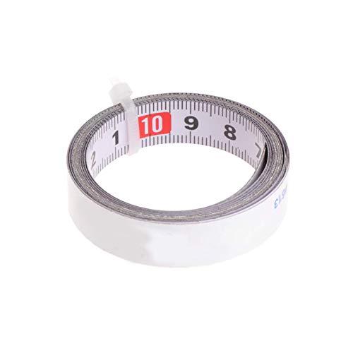 YuuHeeER Cinta métrica autoadhesiva de acero métrico para sierra ingletadora (1 m)