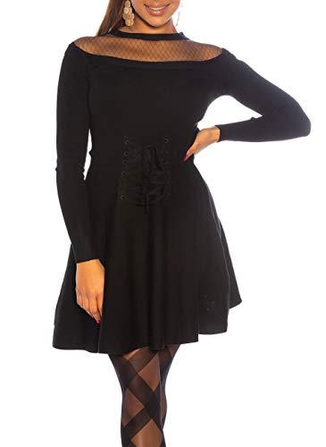 Koucla Vestido de cóctel con falda de tul y corsé. Negro S