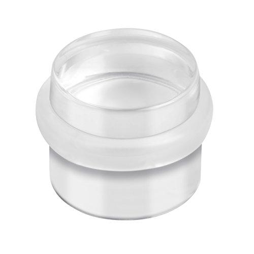 Metafranc Türstopper transparent - Ø 32 mm - Bodenmontage - Selbstklebend - Rückstandslos zu entfernen / Türpuffer / Wandpuffer / Gummipuffer / Wandschutz / Anschlagdämpfer / 431757