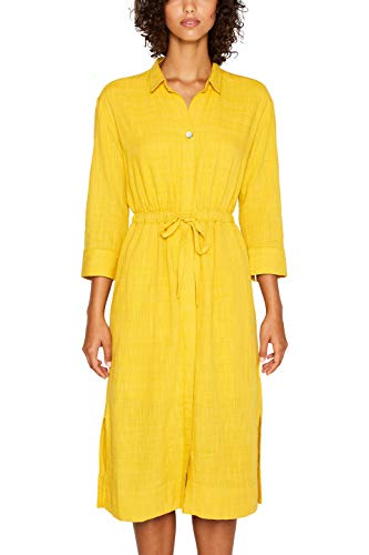edc by ESPRIT Damen 039CC1E007 Kleid, Gelb (Honey Yellow 710), (Herstellergröße: 40)
