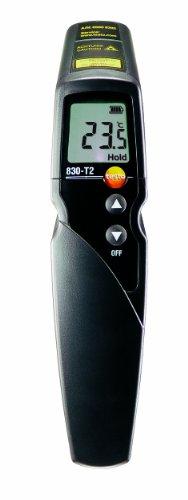 Testo 830-T2 - Termómetro por infrarrojos con indicador láser de 2 haces (óptica 12:1)