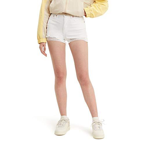 Levi's Women's High Rise Shorts, Salt White, 29 (US 8)