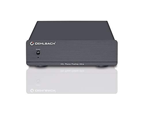 Oehlbach XXL Phono PreAmp Ultra - High-End Phono-Vorverstärker für Plattenspieler und MM- und MC-Tonabnehmer - Schwarz