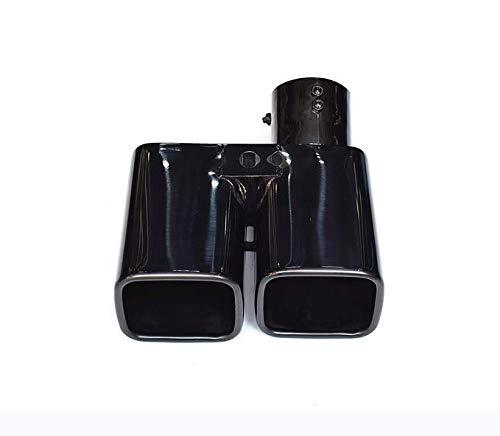 新品 トヨタ アルファード ヴェルファイア 30系 用 マフラーカッター モデリスタ 純正 エアロ 対応 2本出し ステンレス製 シルバー/ブラック/チタン柄 3色選択あり スクエア (チタン柄) [並行輸入品]