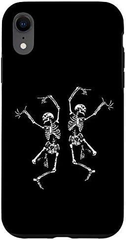 iPhone XR Spooky Dancing Skeletons Macabre Skeleton Vintage Halloween Case product image