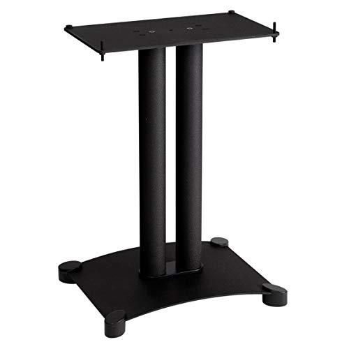 """Sanus SFC22-B1 Steel Series 22"""" Speaker Stand for Center Channel Speakers Black"""