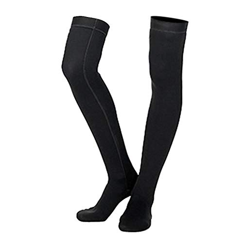2mm Neoprene Diving Stockings Women Girl Snorkeling Long Socks Warm Over Knee Diving High Socks Foot and Leg Protection for Water Sports Surfing Snorkeling Swimming (XL)