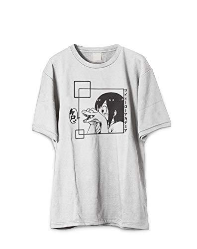 Revel Shore Japanese Tsuyu My Hero Froppy Ribbit Shirt (Small) Off-White
