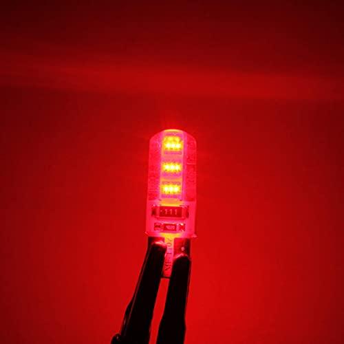 Coche de cuña de la cuña de la cuña LED LED CANBUS Permiso sin errores Bombilla T10 W5W RECORDATORIO DE COB RECUENTE SOFT SOFT 2W Hudson Studio (Color : Red)