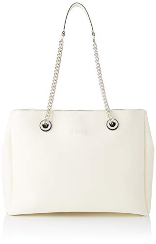 O bag Damen Borsa Soft Mild E Melville Clutch, Weiß (Bianco), 50x14x29 Centimeters