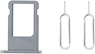 XcellentFixParts Reemplazo de Tarjeta SIM Bandeja Holder SIM Card Tray Holder para 6 Plus (Gris) + 2 Tarjeta SIM de expulsión Remover Pin