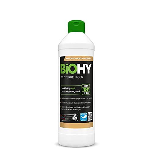BiOHY Limpiador tapicerías (1 botella de 500ml) | Ideal para asientos de coche, sofás, colchones, etc. | También es adecuado para las lavadoras (Polsterreiniger)
