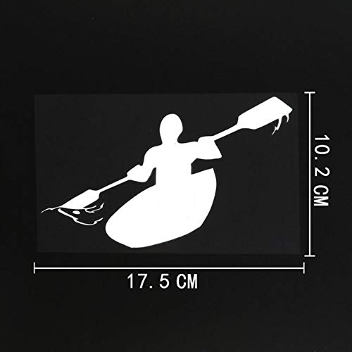 HKSOKLLJJ 3 Piezas de Pegatinas y calcomanías para Coche, 17,5 cm x 10,2 cm, Kayak Fresco, Impermeable, Reflectante, Motocicletas, Bicicleta, monopatín, Snowboard, Equipaje, Pegatinas