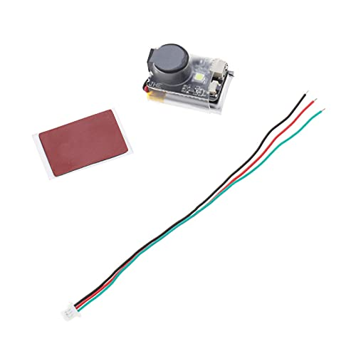 Minibuzzer de dron de carrera, 110 dB, alarma superfuerte con batería LED, cable de 3 pines, funciona como zumbador normal o Beeper independiente.