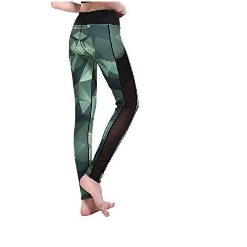 DSCX Dames Leggings Broeken Sport Mesh Splicing Broeken Buiten Ademend Stretch Sneldrogend Mode Dagelijks