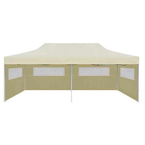 lahomie Gazebo Roof, UV Protection Tent for Roof, Replacement Roof for Gazebo Party Tent Roof, 6 x 3 x 3.15 m, Cream