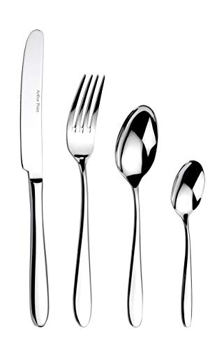 Arthur Price Every Day Arthur Price Willow 24-Piece 6 Person Cutlery Set, Stainless Steel, 34 x 31 x 5 cm